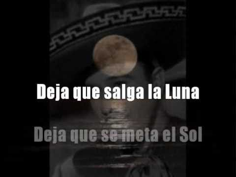 Deja que salga la luna. Pedro Infante. KARAOKE
