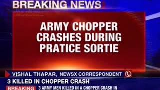 Chopper crash near Bareilly in Uttar Pradesh - NEWSXLIVE