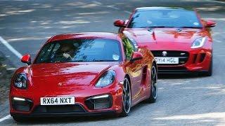 Jaguar F-type coup versus Porsche Cayman GTS