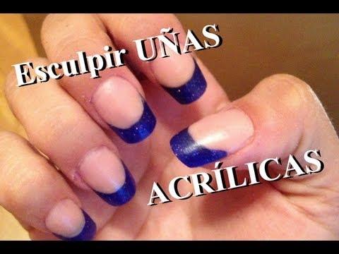 Uñas acrilicas - Cómo esculpir uñas acrílicas para principiantes