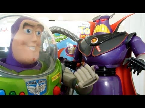 Disney Store TALKING ZURG and Buzz Lightyear REVIEW Toy Story
