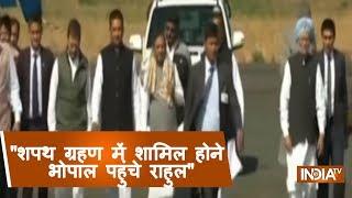 Rahul Gandhi Arrives In Bhopal , Kamal Nath To Be Sworn In Shortly - INDIATV