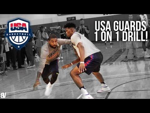 Team USA 1 on 1 Drill | Team USA Guards Go Head To Head