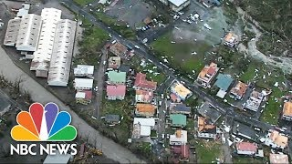 Aerial Footage Of Dominica Captures The Destruction Of Hurricane Maria | NBC News - NBCNEWS