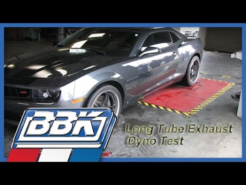 BBK 2010 2011 Camaro SS V8 Full Length Exhaust Headers &amp; Dyno Test