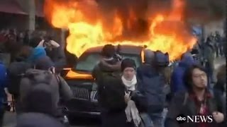 Limo Set on Fire at Trump Inauguration Parade: CAUGHT ON TAPE - ABCNEWS