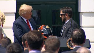Pres. Donald Trump hosts NASCAR Cup Series champion Martin Truex Jr. and team | ABC News - ABCNEWS