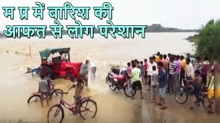 MP: Rivers swollen; people risk their lives while crossing water-engulfed bridges - ABPNEWSTV
