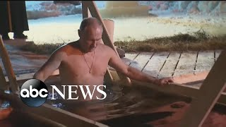 Shirtless Vladimir Putin takes dip in icy Russian lake for the Epiphany - ABCNEWS