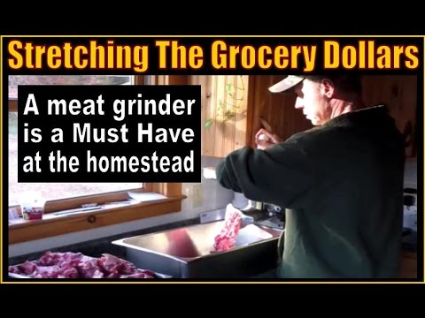 FRUGAL HOMESTEADING. Stretching The Grocery Dollars With A Meat Grinder.