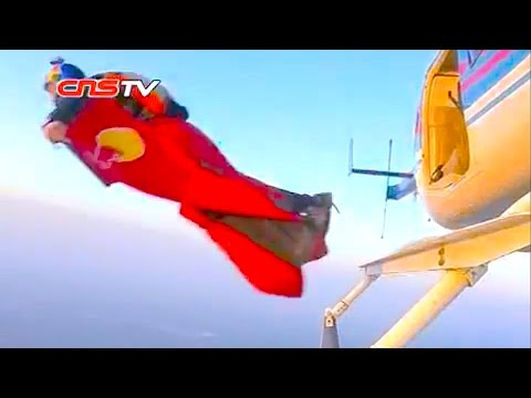 张树鹏首次翼装跳伞成功 / Zhang Shupeng's First Wingsuit Flying in Chengdu