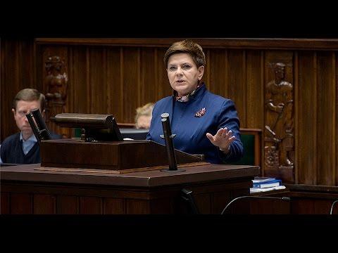 Wystąpienie premier Beaty Szydło w Sejmie