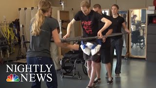 New Device Helps Paralyzed Patients Walk Again | NBC Nightly News - NBCNEWS
