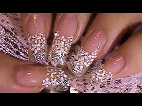 """Нейл-арт свадебный дизайн ногтей """"Зимняя свадьба"""""""