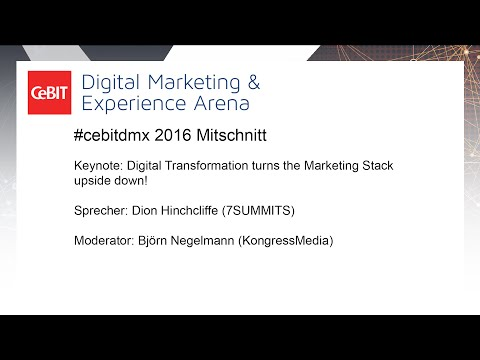 "#cebitdmx: Keynote "" Digital Transformation turns the Marketing Stack upside down!"""