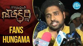 Fans Hungama @ Gautamiputra Satakarni Premiere Show || #Balakrishna || #Krish - IDREAMMOVIES