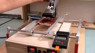 Cнятие чипа BGA на инфракрасной паяльной станции pireg