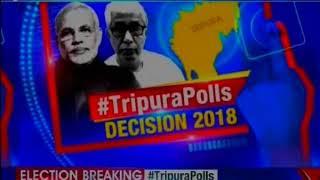 TripuraElection2018: Tripura CM Manik Sarkar casts his vote at a polling booth in Agartala - NEWSXLIVE