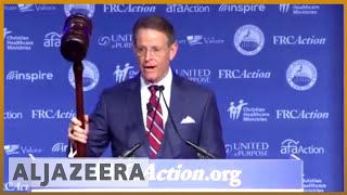 🇺🇸Conservative Christian group shows support for Kavanaugh in DC l Al Jazeera English - ALJAZEERAENGLISH