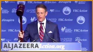 🇺🇸Conservative Christian group shows support for Kavanaugh in DC l Al Jazeera English - ALJAZEERAENGLISH