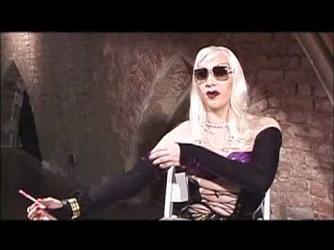 Marilyn Manson on the Set of Party Monster