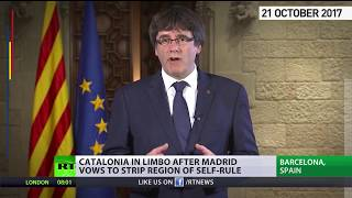 'Worst attacks' since Franco's dictatorship – Catalan leader on Madrid's steps toward direct rule - RUSSIATODAY