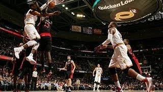 CJ Miles Dunks On Amir Johnson