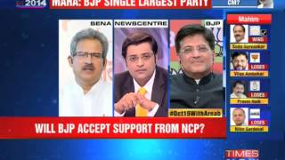 Will BJP accept support from NCP? - TIMESNOWONLINE