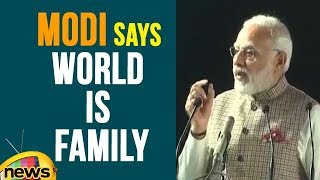 PM Modi Says Technology Breaks Barriers And World Is Family | Mango News - MANGONEWS