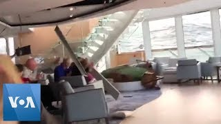 Passengers Wait on Cruise Ship in Rough Weather off Norway - VOAVIDEO