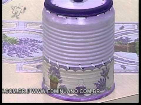 Ateliê na Tv - 16-04-12 - Lili Negrão - Latinhas para o Banheiro