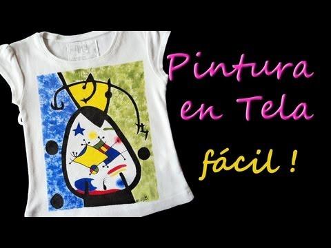 Como Pintar Camisetas Facil Tutorial Como Pintar en Tela *Paint on Fabric*Pintura Facil