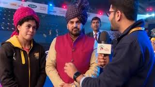 PWL 3 Day 14: Brij Bhushan praises Pooja Dhandha for defeating Odunayu at Pro Wrestling League - NEWSXLIVE