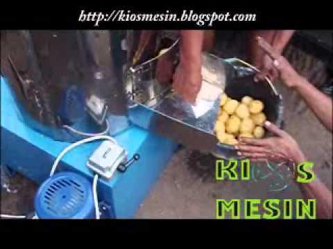 mesin pengupas kentang, mesin pencuci kentang, mesin potong , pengiris, perajang keripik kentang