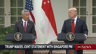 President Donald Trump, Singapore PM Loong hold joint news conference - ABCNEWS