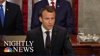 French President Emmanuel Macron Calls On U.S. To Stay In Iran Deal | NBC Nightly News - NBCNEWS