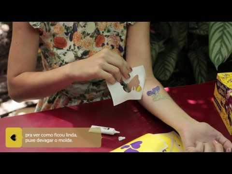 passo-a-passo kit tattoo glitter