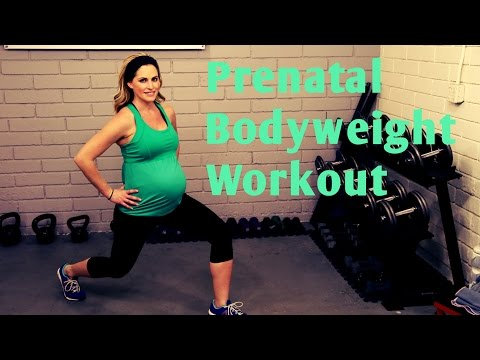 25 Minute Prenatal Bodyweight Workout---No equipment workout for 1st, 2nd and 3rd Trimesters
