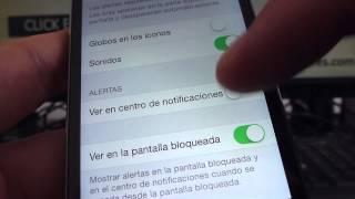 iphone espa?ol tutoriales C?mo detener quitar notificaciones iphone iOS 7 ios8 Channeliphone