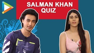 ULTIMATE Salman Khan QUIZ with Aayush Sharma & Warina Hussain | Loveyatri - HUNGAMA