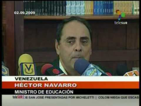 Gobierno venezolano implementa nuevo modelo educativo Septiembre 3 2009