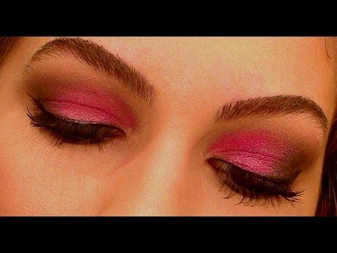 Maquiagem rosa pink com preto por Alice Salazar