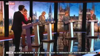 Leaders' Debate - Miliband & Farage Debate European Army - SKYNEWS