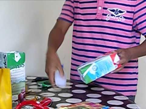 Como fazer caixa de presente de material reciclavel
