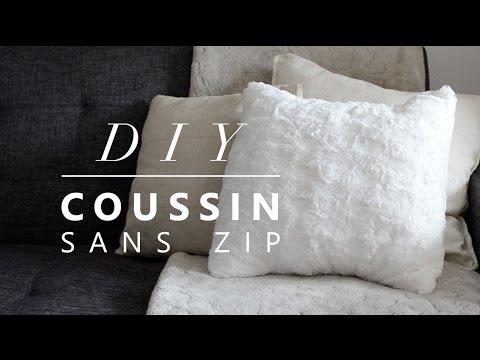 JOUR 14 : COUDRE UNE HOUSSE DE COUSSIN SANS ZIP - no zip cushion cover DIY