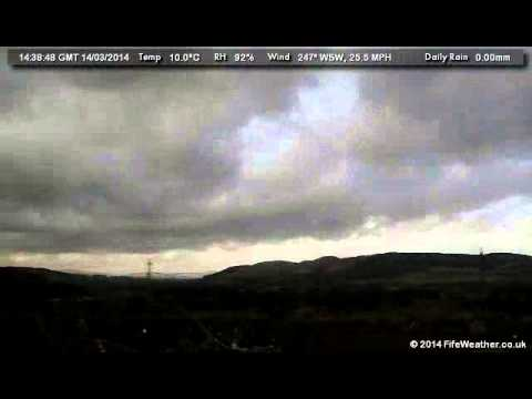 14 March 2014 - WeatherCam Timelapse - FifeWeather.co.uk