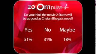 Do you think movie 2 States will be as good as Chetan Bhagat's novel: zoOm  pulse