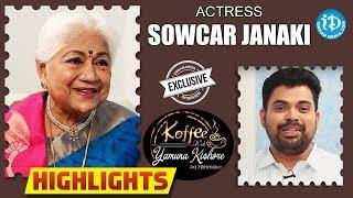Actress Sowcar Janaki Interview - Highlights || Koffee With Yamuna Kishore - IDREAMMOVIES