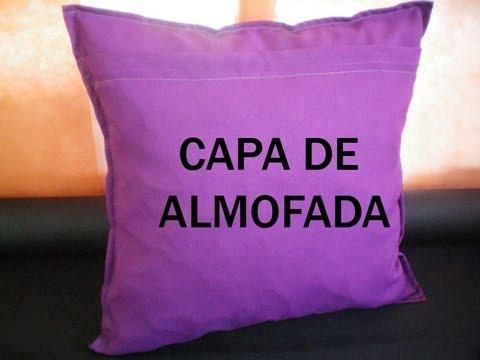 Capa de Almofada - simples de fazer