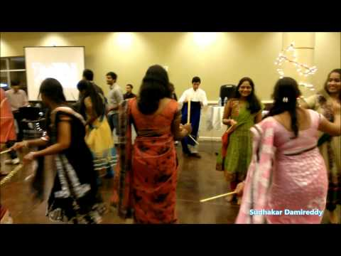 Playing Dandia by Andhra Girls In USA